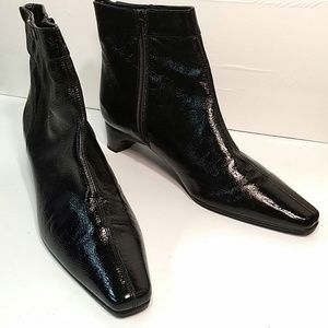 Etienne Aigner Shoes - Etienne Aigner Ankle Boots Black Leather Size 8.5